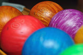 Colorful bowling balls — Stock Photo