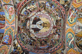 Monastery interior - murals — Stock Photo