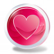 Button hearts,Love,Charming Pink — Stock Vector