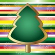 Christmas tree,card — Image vectorielle