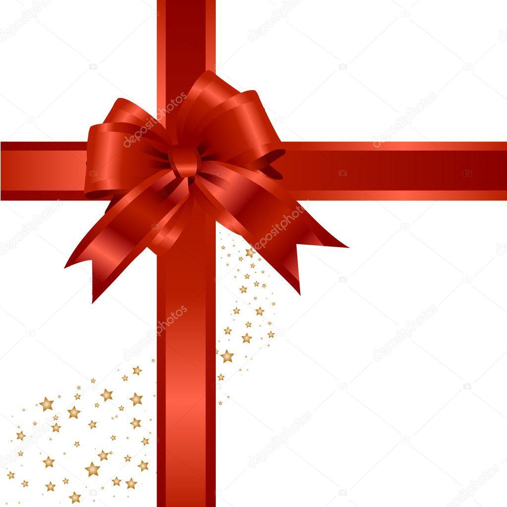 cadeau rouge ruban noeud image vectorielle moonelune 2149352. Black Bedroom Furniture Sets. Home Design Ideas