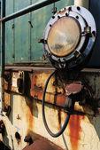 Phare d'une vieille locomotive — Photo