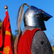 Knight awaiting to fight — Stock Photo