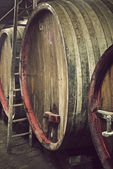 Barrels of wine — Stock Photo