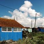 vícebarevné chaty — Stock fotografie