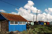 Multicolored huts — Stock Photo