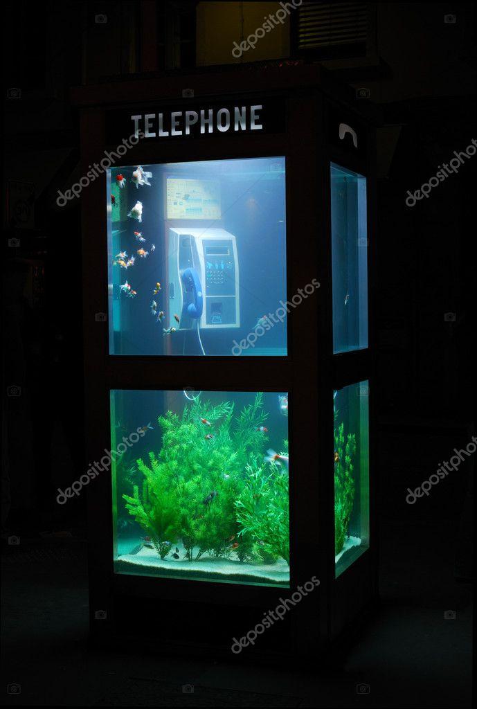 Aquarium Telephone Booth Stock Photo Lush 2180390