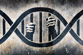 Imprisoned in DNA cage — Stock Photo