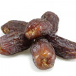 Six dried dates — Stock Photo