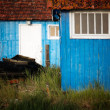 Blue huts - Stock Photo