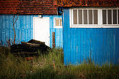 Blue huts — Stock Photo