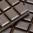 Bars of chocolate blocks — Stock Photo