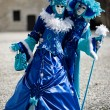 Blue and white costumes for Carnival — Stock Photo