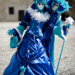 Stock Photo: Blue and white costumes for Carnival