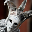 Silver mask - Stock Photo