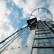 Stock Photo: Refinery ladder on tank