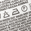 Stock Photo: Laundry advice clothing tag