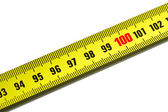 One hundred on measuring tape — Zdjęcie stockowe