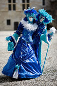 Blue and white costumes for Carnival — Foto de Stock