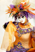 Orange karneval maske — Stockfoto