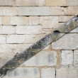Diagonal line on a stone wall — Stock Photo