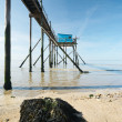 Fishing pier - Stock Photo