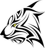 Vector tiger tattoo — Stock Vector
