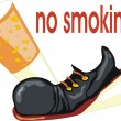 Royalty-Free Stock Imagem Vetorial: No smoking concept
