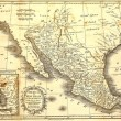 Old map of Mexico. - Stock Photo