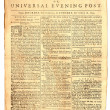 Old London Newspaper dated 1759 — Foto Stock