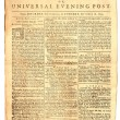 Old London Newspaper dated 1759 - Stock Photo