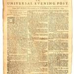 alte Londoner Zeitung datiert 1759 — Stockfoto