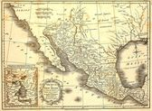Old map of Mexico. — 图库照片