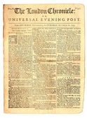 Old London Newspaper dated 1759 — Stockfoto