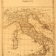 Old Map of Italy — Stock Photo