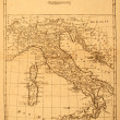 Stock Photo: Old Map of Italy