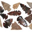 Native American Arrowheads - Stock Photo