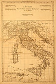 Old Map of Italy — 图库照片