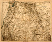 Old Map of America's Northwest. — 图库照片