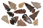 Native American Arrowheads — Stock Photo