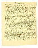 Vecchia lettera scritta a mano. — Foto Stock