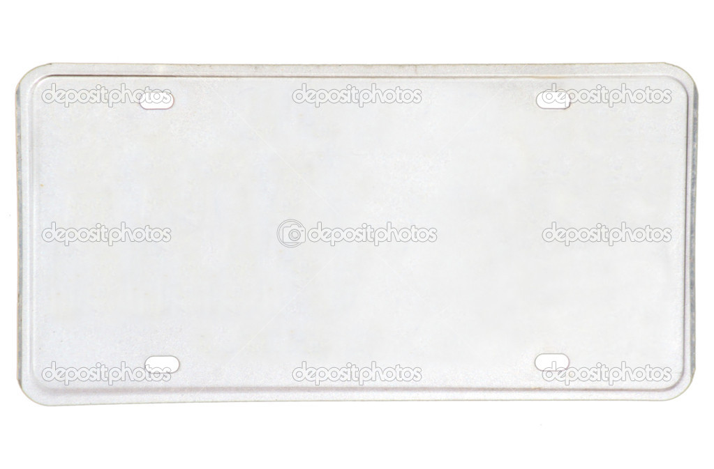 Blanked vehicle license plate ready for your text. — Stock Photo #2169453