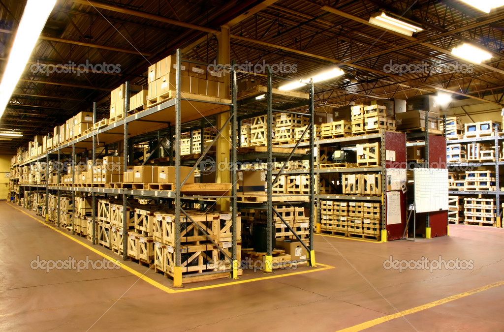 The parts warehouse of a manufacturer  Stock Photo #2169531