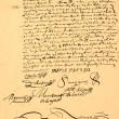 Very Old Marriage Contract. — Stock Photo