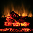 Fireplace glow. — Stock Photo