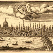 Stock Photo: Ancient skyline view of London England..