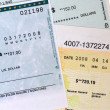 Collection of Commercial Bank Checks. - Stock Photo