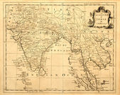 Old Map of India and Southeast Asia — 图库照片
