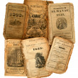 Foto Stock: Old Almanacs.