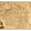 Old map of Poland — Stock Photo